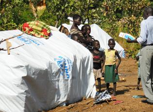 Sued Sudan gefluechtete Unterkunft