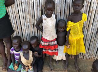 Fluechtlingskinder inm Suedsudan