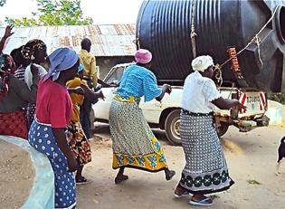 Kenia Segnung des Wassers