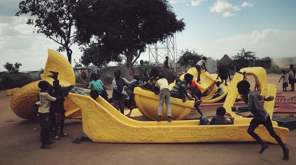 Grossspende fuer Uganda