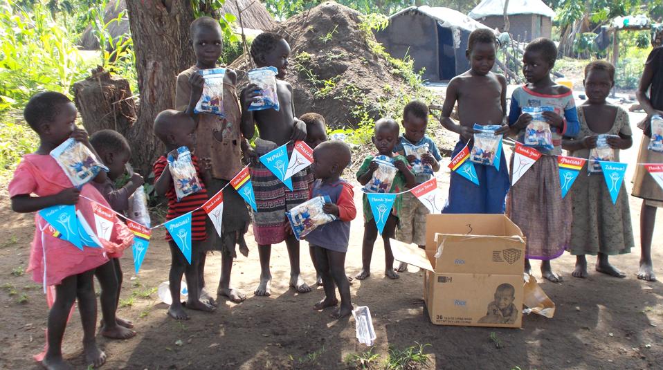 Suedsudan Danke von den Kindern