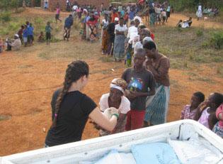 Malawi Essensausgabe bei den ?rmsten